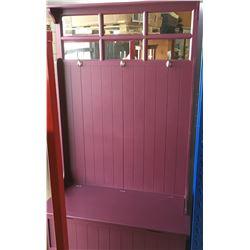 Hall Seat/Bench w/Mirror & Hooks!