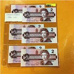 1986 Canada $2 Bills (6)
