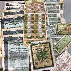 Collection of Old German Stocks / Bonds 1919, etc !!!!!!