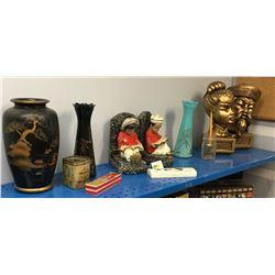Oriental / Asian Décor Collectibles (Vases, Harmonica, Book Ends, etc)