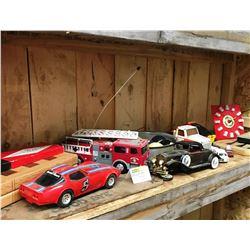 Shelf Lot: Toys, Games, Clock, Radio