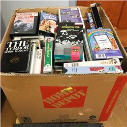 Box Lot: VHS & Scrap Books