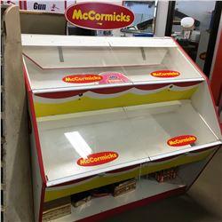 McCormicks Display Stand w/Tins & Double Bubble Box