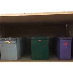 3 Ammo Boxes w/Contents