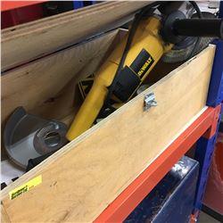 Dewalt Angle Grinder & Wooden Storage Box