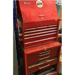 Rolling Tool Box (Top = Snap On & Bottom = Beach) LOADED WITH MECHANIC TOOLS ! Must Look !