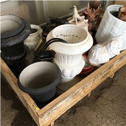 Crate Lot: Yard Ornaments, Pots, Lawn/Garden, etc