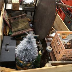 Crate Lot: Large Variety of Antique/Collectibles & Miscellaneous! Must Look!