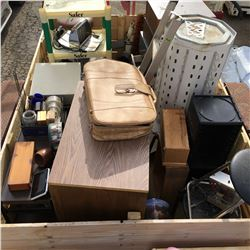 LARGE Crate Lot : Variety of Household Misc etc! Must Look !!