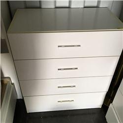 4 Drawer Dresser - White