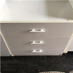 3 Drawer Dresser - White