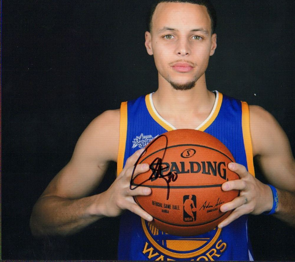 pretty nice 45e0c 47e49 Stephen Curry Golden State Warriors Signed 8x10 Photo