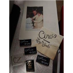 Liza Minnelli Jack Haley Jr. Wedding Favors Ciro's