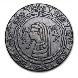 1/2 oz  .999 fine Silver Round - Egyptian Pharoah w/ Scarab