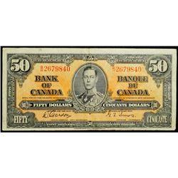 1937 $50 Dollar BC-26b, Bank of Canada Banknote