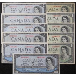 1954 - Devils Face issue - 1 & 5 Dollar Banknotes