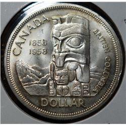 1958 Silver Dollar - 'Death Dollar'