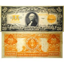$20 Gold Coin Certificate, Large Size