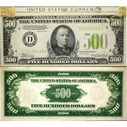 US $500 Crisp uncirculated