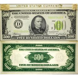 US $500 Crisp uncirculated