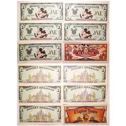 Paper Disney Dollars