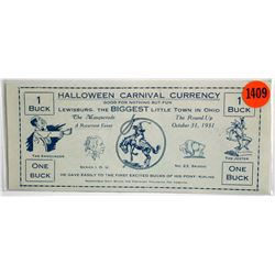 Halloween Carnival Currency Scrip
