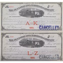 Pennsylvania Railroad Company Dividend Scrip