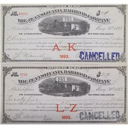 Pennsylvania Railroad Company Dividend Scrip