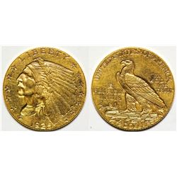 1925 D Gold Indian Head $2.5 Coin