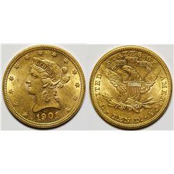 1901 $10 Liberty