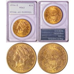 $20 Gold Piece, 1904-S