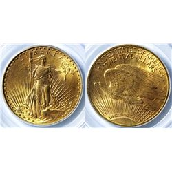 $20 St. Gaudens Gold Piece, 1924 MS-63