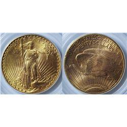 $20 St. Gaudens Gold Piece, 1927 MS-63
