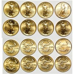 Eight American Eagle 1/10th Ounce Gold Pieces