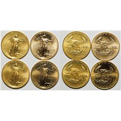 Four American Eagle 1/2 Ounce Gold Pieces