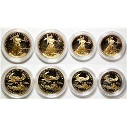 Two 1987 US Eagle Gold Bullion One Ounce & Half Ounce Coins Proof W/ Box & COA set