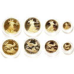 Set of American Eagle Gold Coins in 1, 1/2, & 1/10 Tr Oz sizes