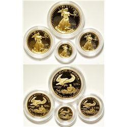 Gold American Eagles Proof Mint Set
