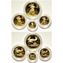 Gold American Eagles Proof Mint Set