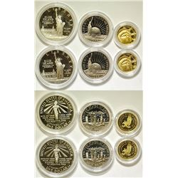 U.S. Liberty Coin Sets (Gold & Silver)