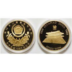 1988 XXIV Olympiad Seoul 50000 Won Gold Coin