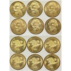 Six U.S. Gold Bicentennial George Washington Gold Pieces