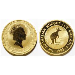 1993 Australian Nugget $100 Coin