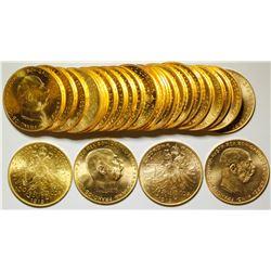 25 Austrian 100 kroner 1915 Uncirc Gold Coins