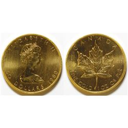 1980 $50 Gold Canadian Maple Leaf Coin 999
