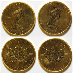 Two 1985 Canadian $50 Gold Maple Leaf Coins