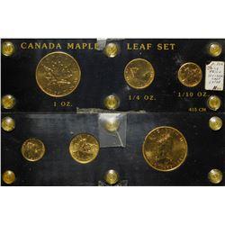 Canadian Maple Leaf Gold Set