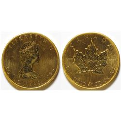 1985 $50 Gold Maple Leaf Coin