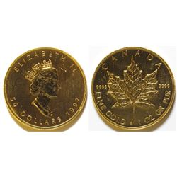 1997 $50 Gold Maple Leaf coin