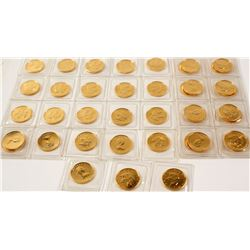 40 Canadian Maple Leaf Tenth Ounce Gold Coins In Original Mint Holders